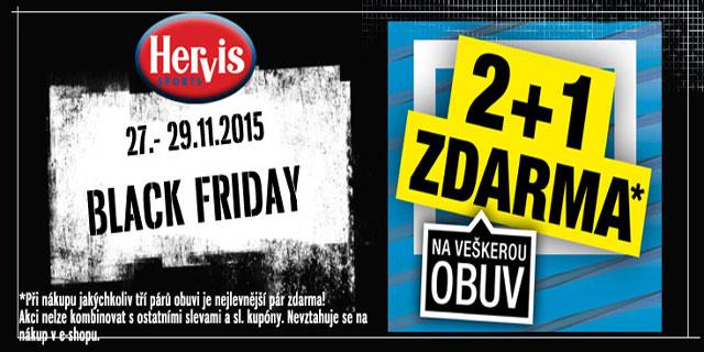 Hervis - Black Friday 2+1 na veškerou obuv