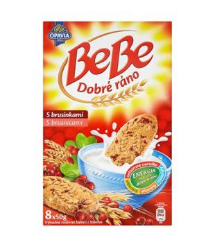 Opavia BeBe Dobré ráno cereální sušenky, různé druhy (8 kusů)