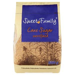 SweetFamily Třtinový cukr nerafinovaný 500g