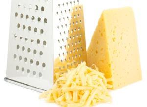 Test strouhaných sýrů