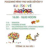 Užijte si podzimní pátky v Kulíškově v OC Oaza Kladno