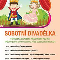 Program říjnových Sobotních divadélek v Galerii Butovice