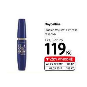 6f14fc63f23 ARCHIV | Maybelline Classic Volum' Express řasenka, 3 druhy v akci platné  do: 7.11.2017 | AkcniCeny.cz
