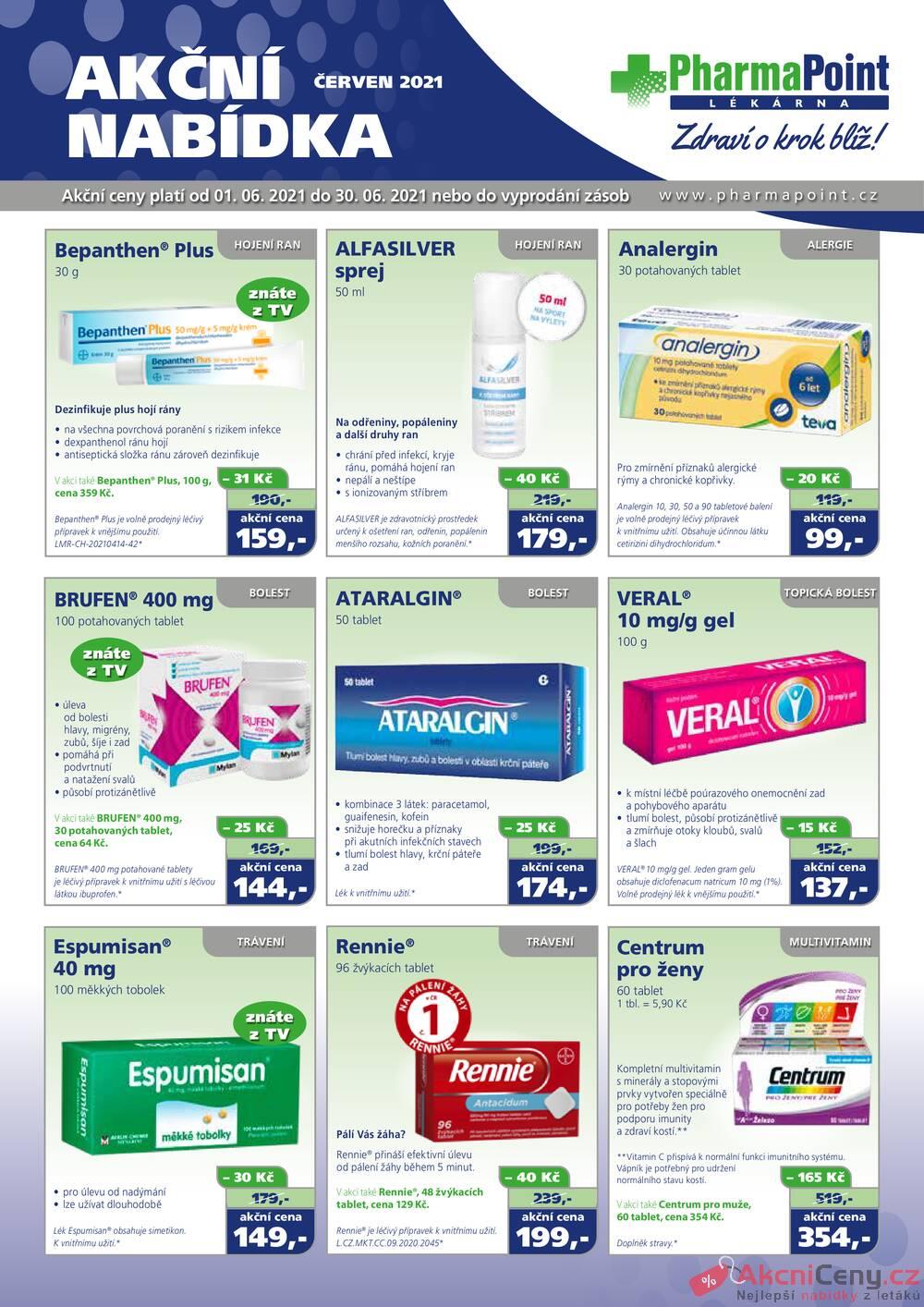 Leták PharmaPoint  - PharmaPoint bez přepisu 1.6. - 30.6 - strana 1