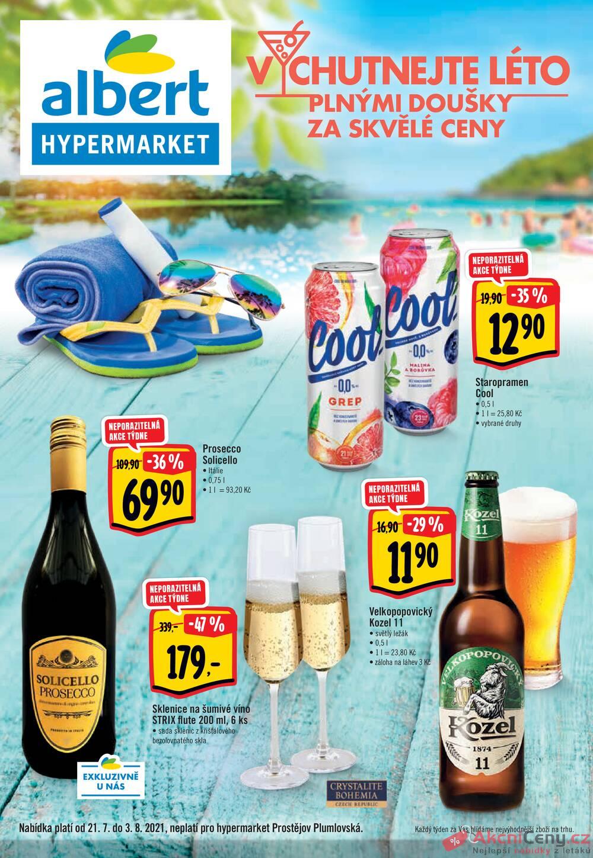 Leták Albert - Albert  Hypermarket katalog od 21.7. do 3.8.2021 - strana 1