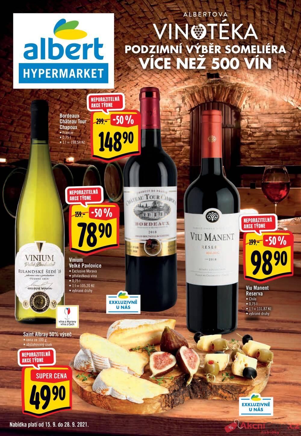 Leták Albert - Albert  Hypermarket katalog Víno od 15.9. do 28.9.2021 - strana 1