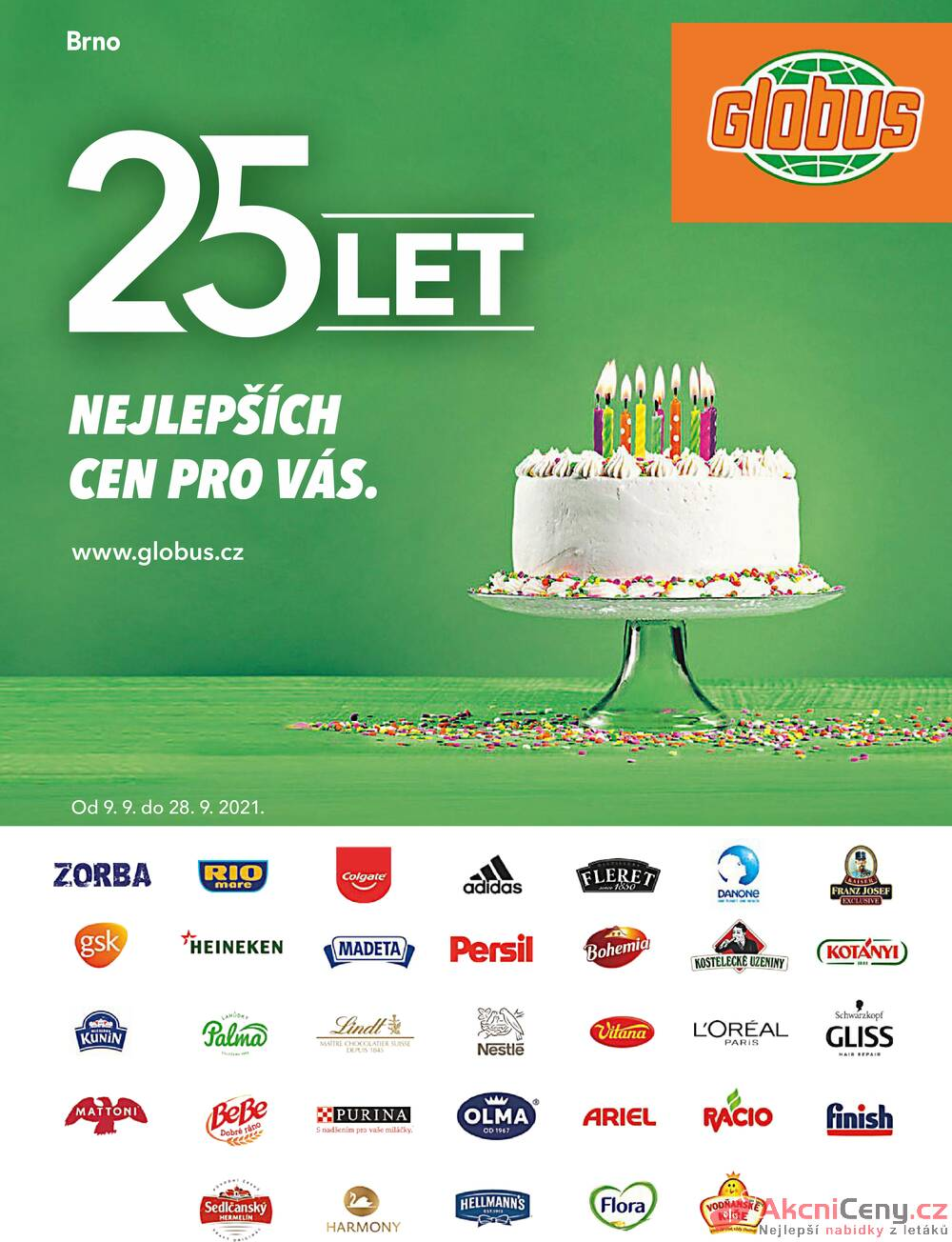 Leták Globus - Globus Brno TOP 9.9. - 28.9. - strana 1