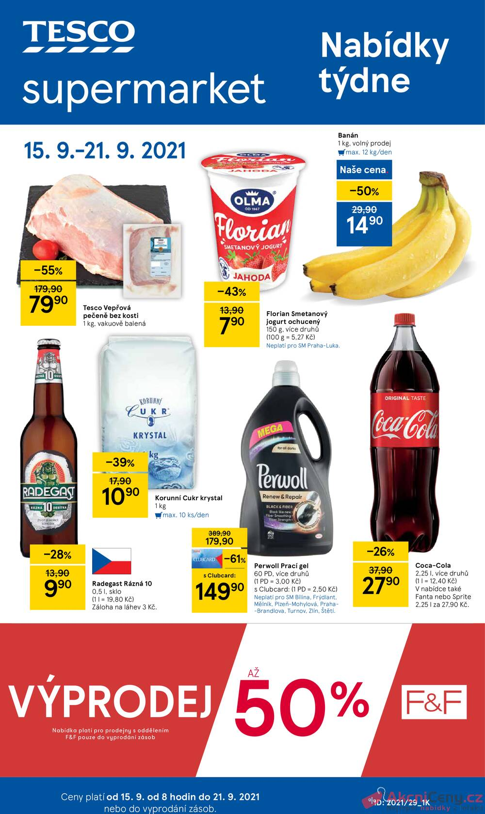 Leták Tesco - Tesco supermarkety od 15.9. do 21.9.2021 - strana 1