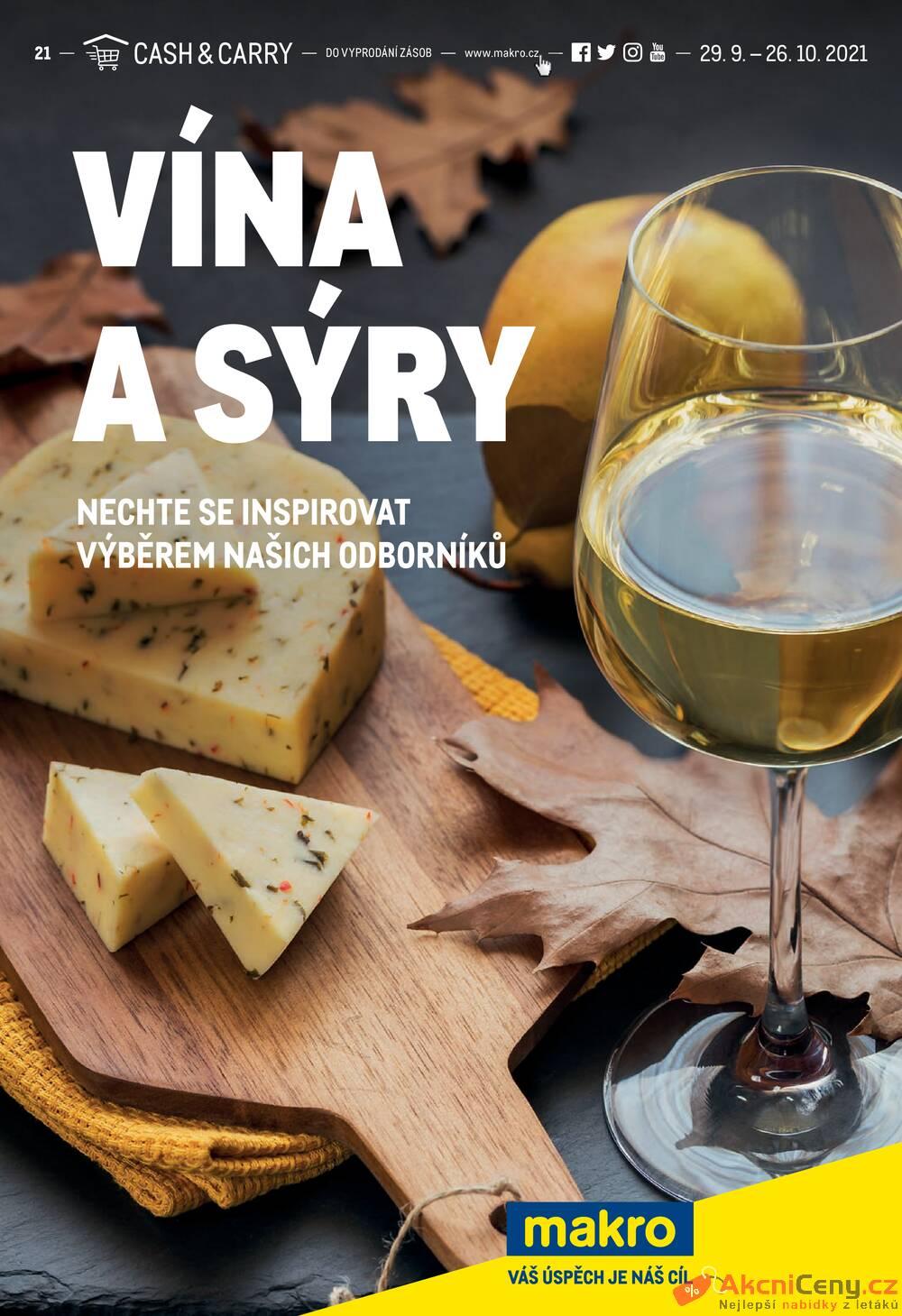 Leták MAKRO - Makro Vína a Sýry do 26.10. - strana 1