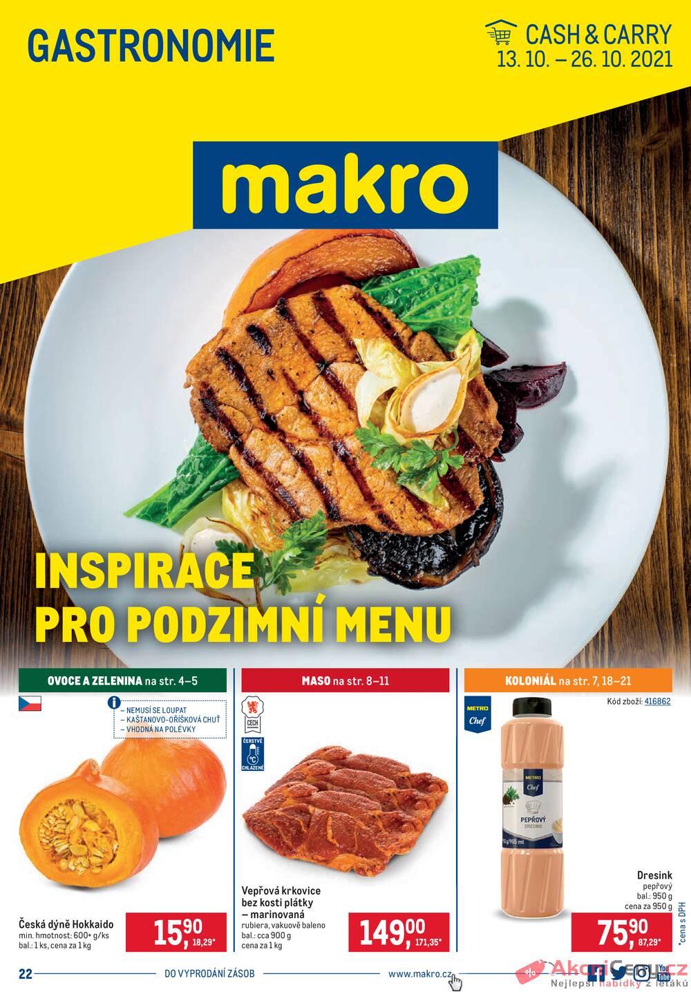 Leták MAKRO - Makro Gastronomie do 26.10. - strana 1
