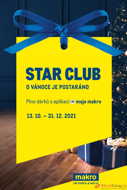 Leták MAKRO - Makro Star Club do 31.12. - strana 1