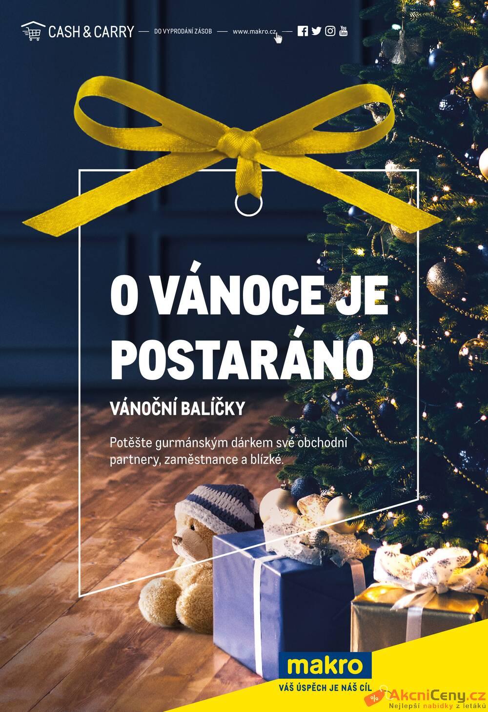 Leták MAKRO - Makro Vánoční balíčky do 31.12. - strana 1