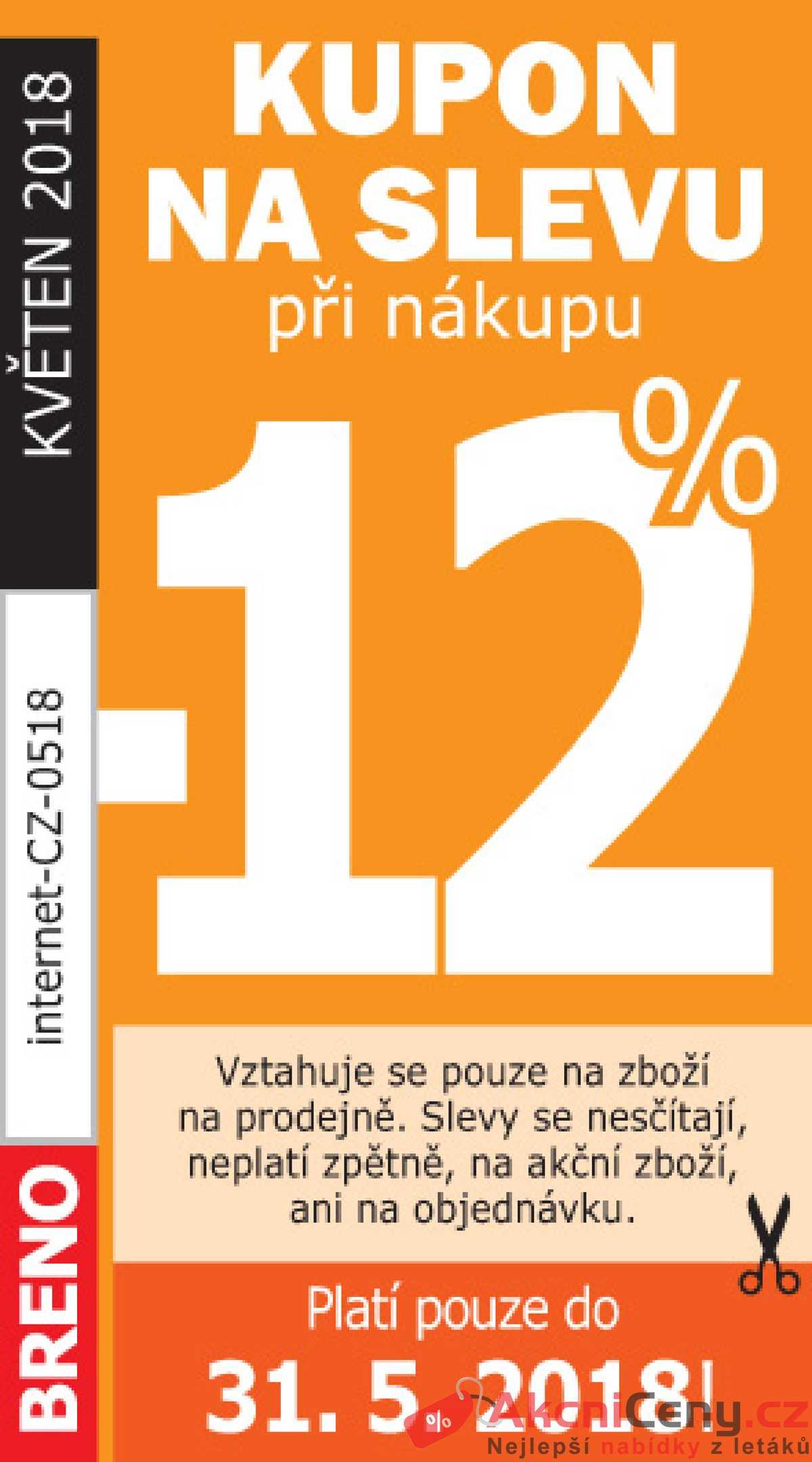 Leták Koberce BRENO - Koberce Breno kupon do 31.5. - strana 1