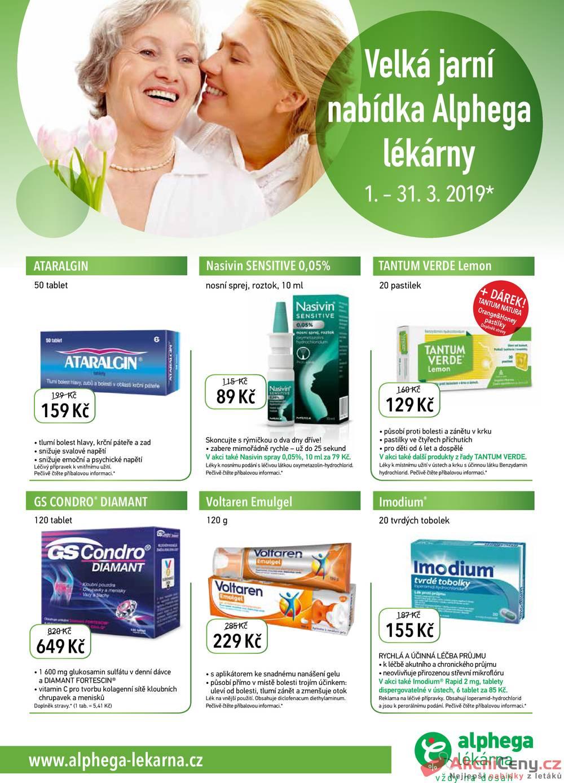 Leták Alphega Lékárna - Alphega Lékárna 1.3. - 31.3. - strana 1