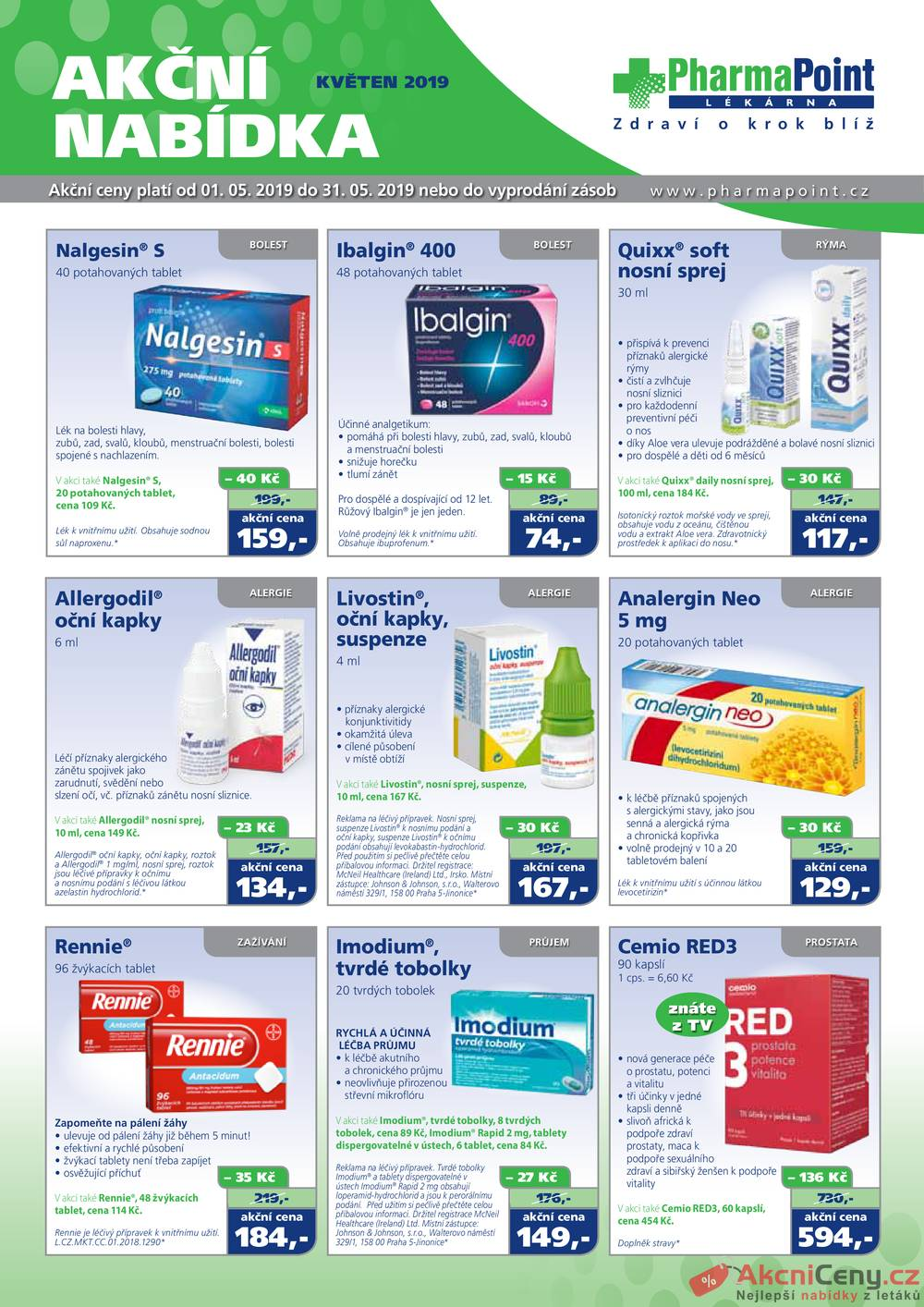 Leták PharmaPoint  - PharmaPoint 1.5. - 31.5. typ A - strana 1