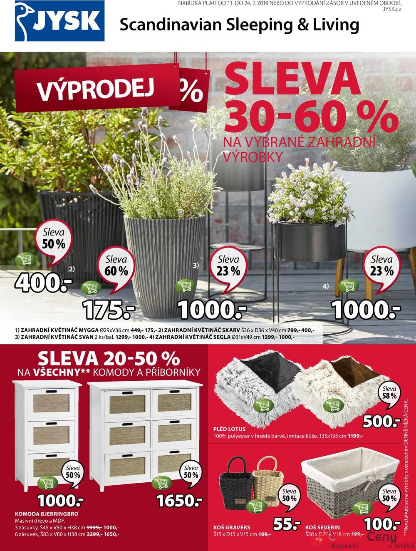 Leták Jysk - Jysk od 11.7. do 24.7.2019 - strana 1