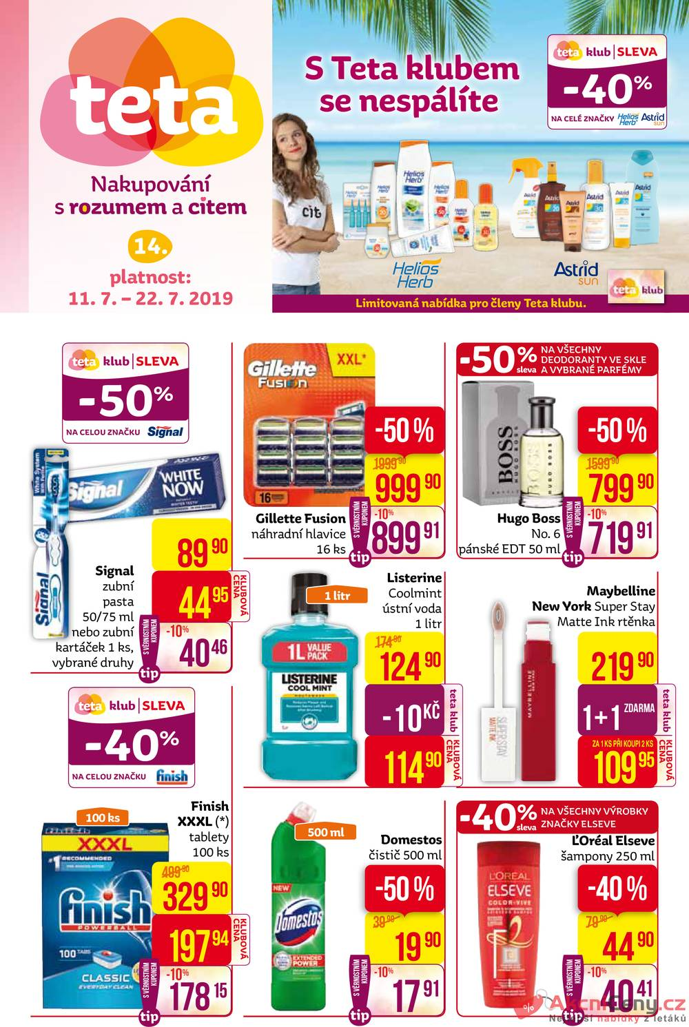 Leták Teta drogerie - Teta drogerie  od 11.7. do 22.7.2019 - strana 1