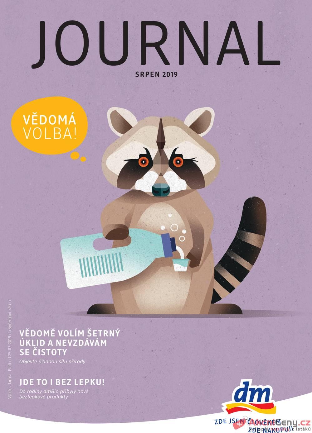 Leták dm drogerie markt - DM drogerie  od 25.7. do 21.8.2019 - strana 1