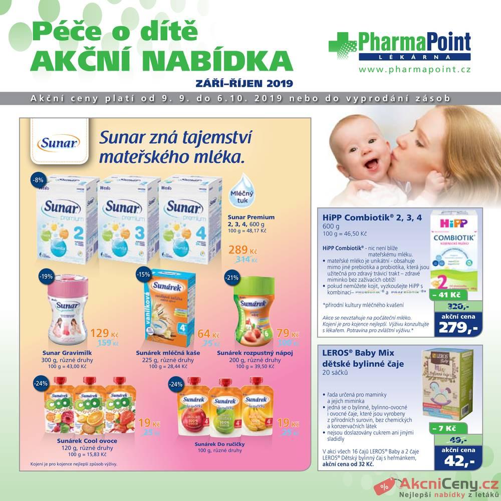 Leták PharmaPoint  - Pharma Point od 9.9. do 6.10.2019 - strana 1