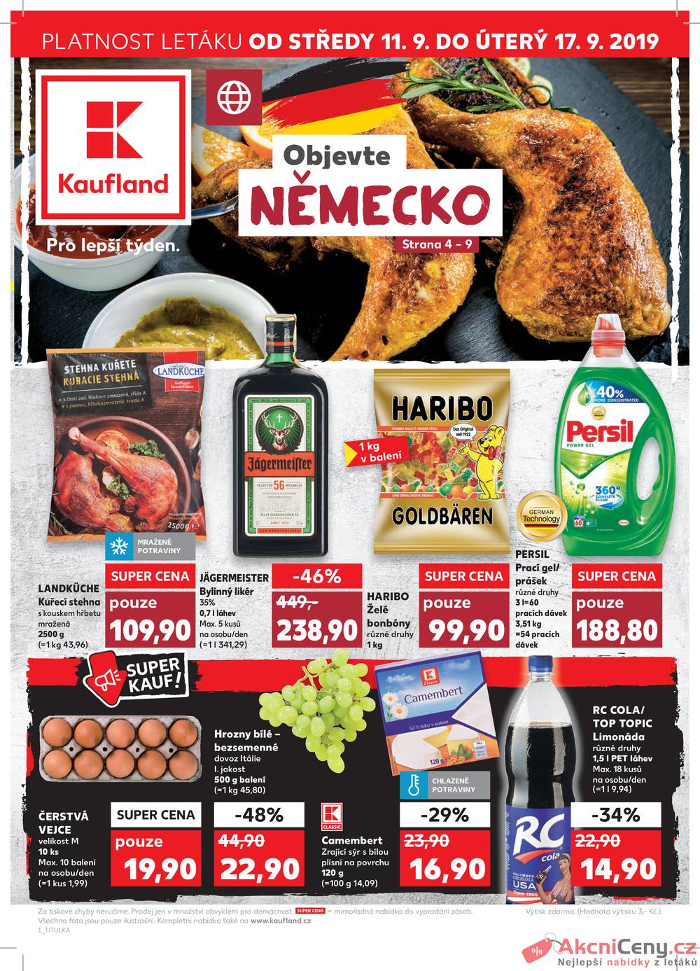 Leták Kaufland - Kaufland 11.9. - 17.9. - Kaufland - Zábřeh na Moravě - strana 1