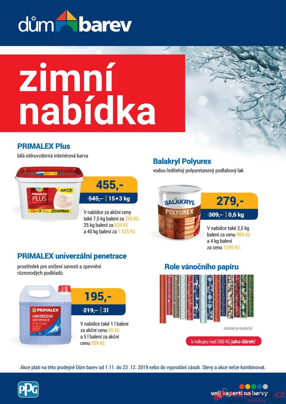 Leták Dům barev - Dům barev od 1.11. do 30.11.2019 - strana 1