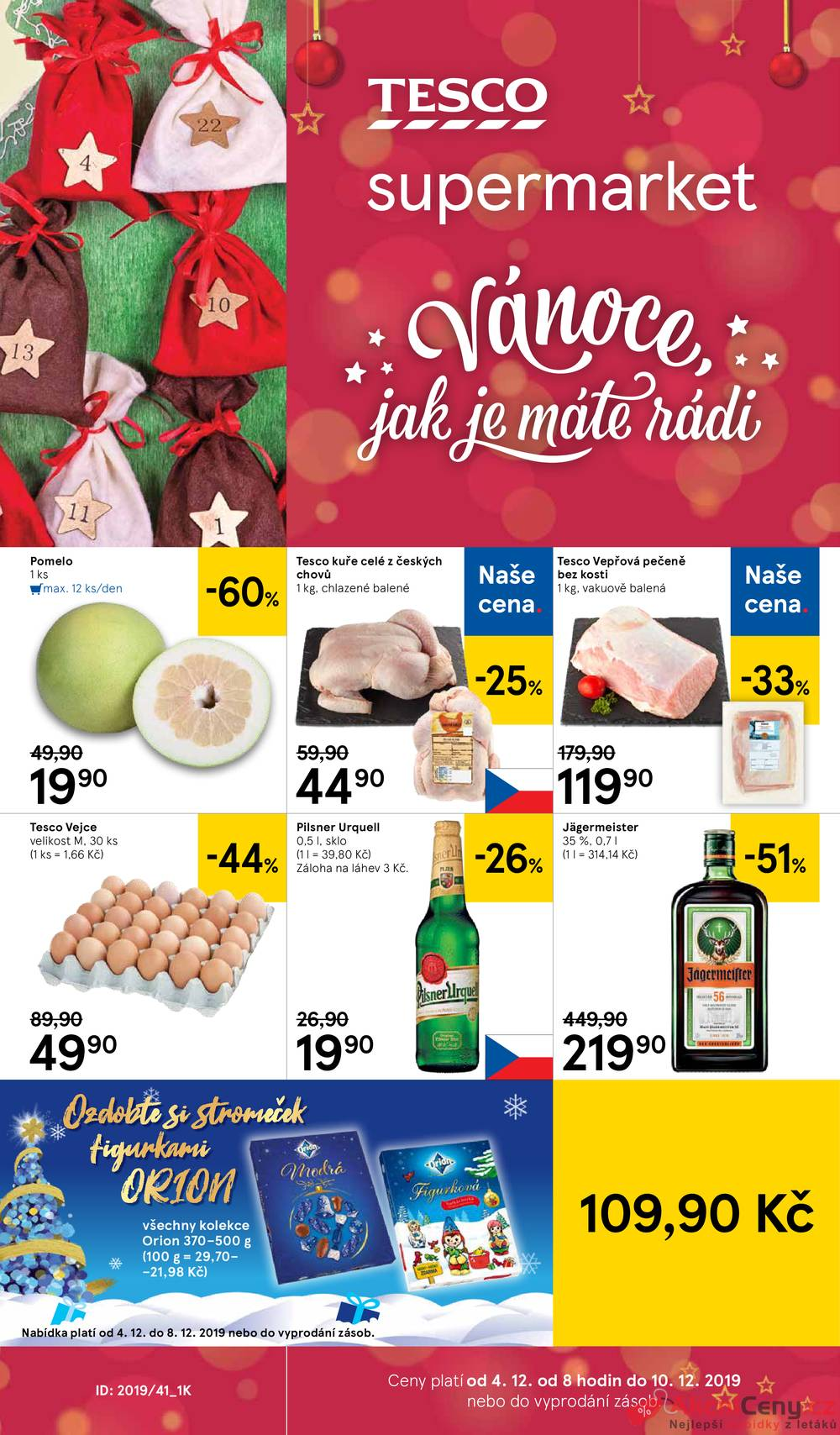 Leták Tesco - Tesco supermarkety od 4.12. do 10.12.2019 - strana 1