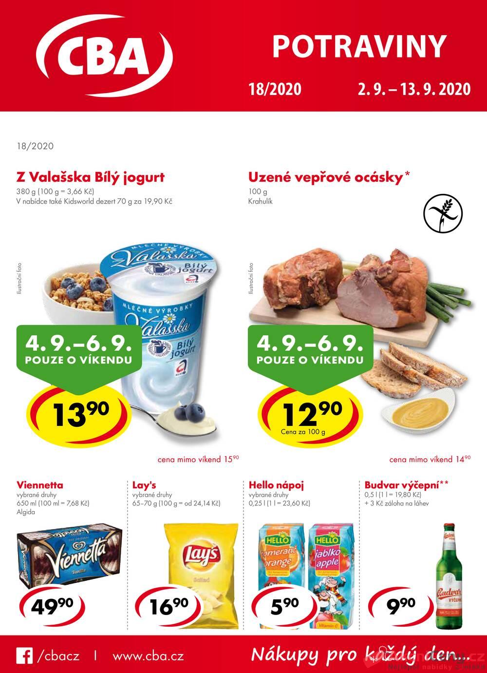 Leták CBA prodejní družstvo - CBA potraviny od 2.9. do 13.10.2020 - strana 1
