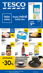 Leták Tesco malé hypermarkety od 30.9. do 6.10.2020