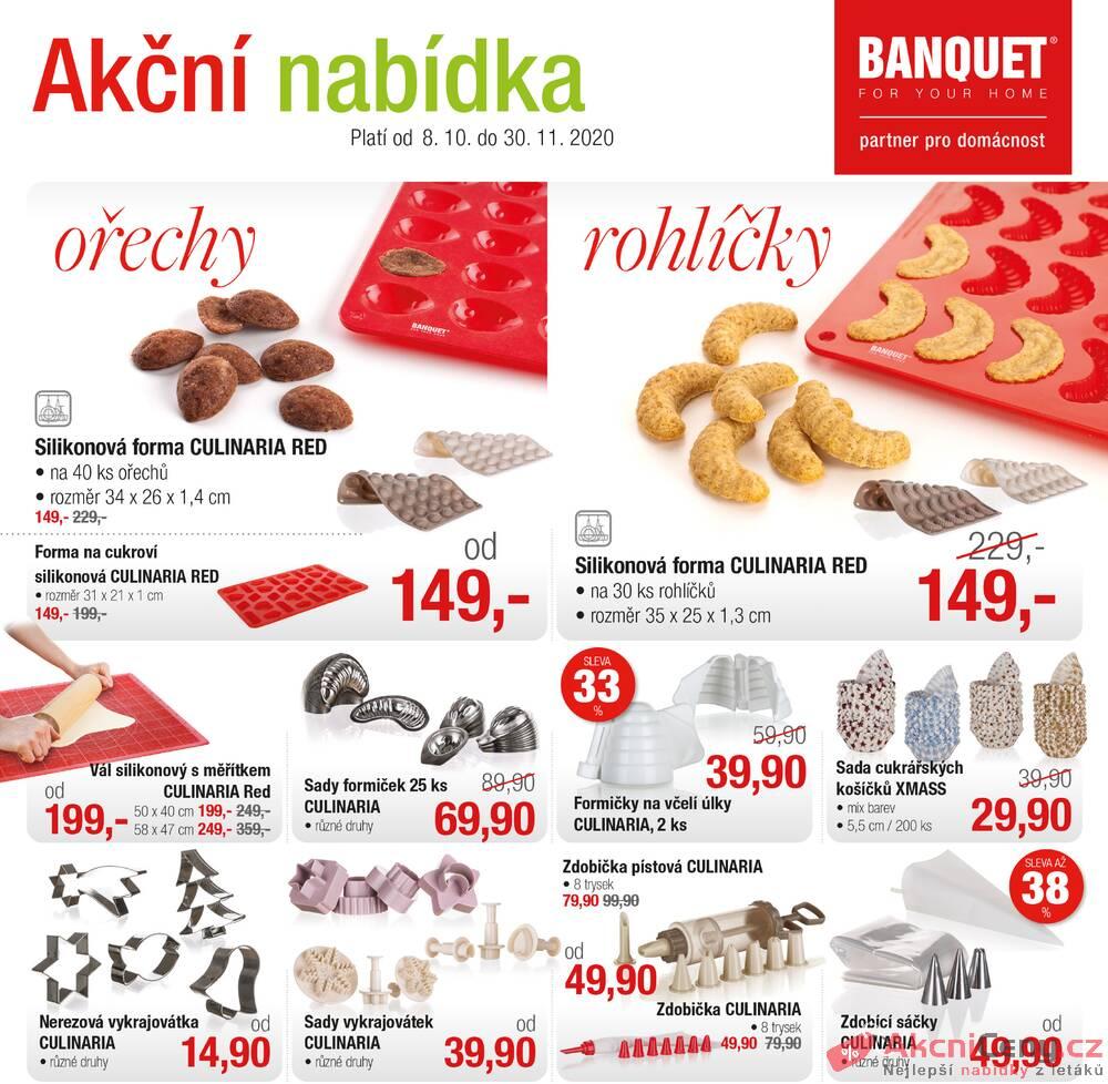 Leták BANQUET  - BANQUET  od 8.10. do 30.11.2020 - strana 1