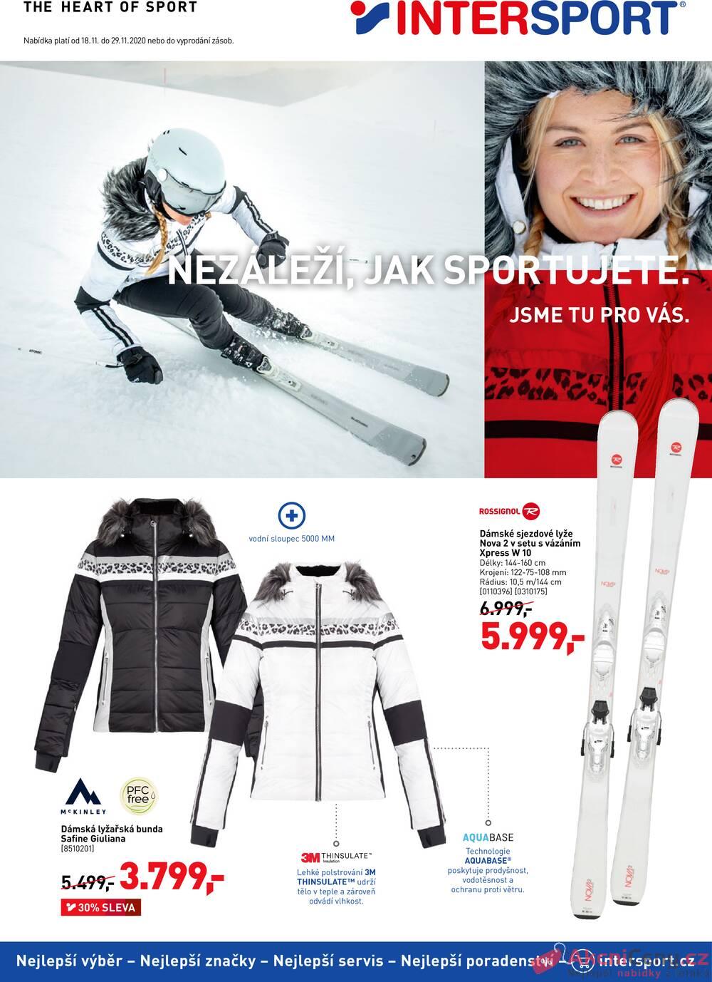 Leták Intersport - Intersport  od 18.11. do 29.11.2020 - strana 1