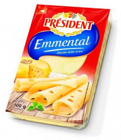 Président plátkový sýr 100g, vybrané druhy