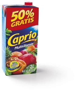 Caprio džus 2l, vybrané druhy