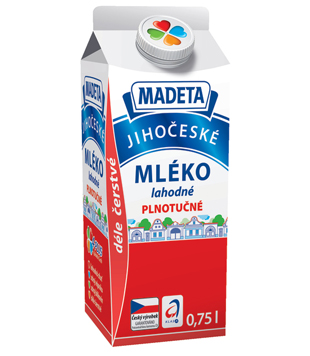 Jihočeské mléko, lahodné, plnotučné, 3,5 %