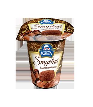 smyslná čokoládová pěna, mléčný dezert