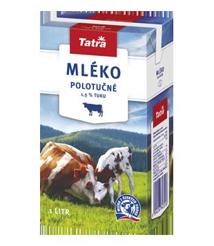 Tatra trvanlivé mléko polotučné 1,5 % (kvádr)