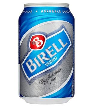 Radegast Birell světlý, nealkoholické pivo (plechovka)