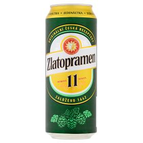 Zlatopramen 11°, světlé výčepní pivo (plechovka)