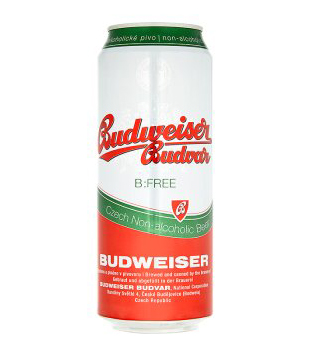 Budweiser Budvar B:Free nealkoholické pivo (plechovka)