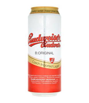 Budweiser Budvar B:Original (plechovka)
