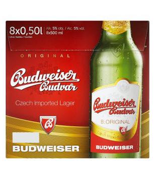 Budweiser Budvar Světlý ležák (8 lahví)
