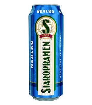 Staropramen Nealko, nealkoholické světlé pivo (plechovka)