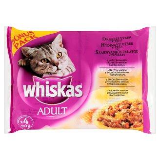 Whiskas kapsičky pro kočky, různé druhy (4x100g)