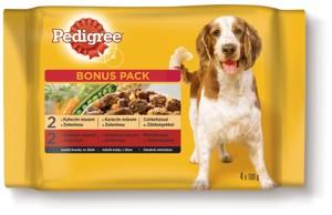 Pedigree kapsičky pro psy 4x100g, vybrané druhy
