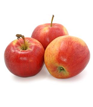 červená jablka
