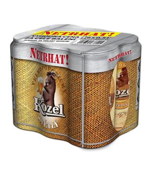 Velkopopovický Kozel Světlý, výčepní pivo, 6 kusů (plechovka)