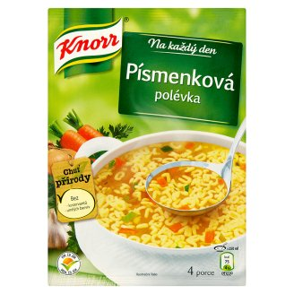 Knorr Polévka, vybrané druhy