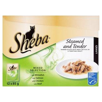 Sheba krmivo pro dospělé kočky 12x85g, vybrané druhy