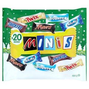 Winter Minis Mix Bounty, Mars, Milky Way, Snickers, Twix 400 g