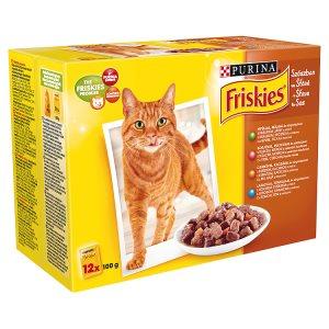 FRISKIES Multipack kapsiček pro kočky - masový výběr ve šťávě 12 x 100g