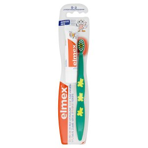 elmex Cvičný zubní kartáček 0-3 roky a dětská zubní pasta 12ml